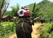 Viaje en el elefante Foto de archivo libre de regalías