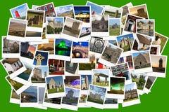 Viaje en Irlanda Collage hecho de polaroides Imagen de archivo libre de regalías