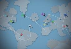 Viaje en mundo del negocio ilustración del vector