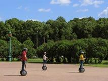 Viaje en segway en parque Fotografía de archivo
