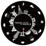 Viaje en todo el mundo ilustración del vector