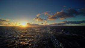 Viaje en transbordador en el mar Báltico almacen de metraje de vídeo