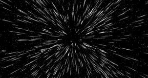 Viaje espacial abstracto como fondo lightspeed stock de ilustración