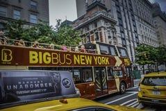 Viaje grande del autobús de Nueva York imagen de archivo