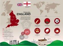 Viaje Infographic de Inglaterra Imágenes de archivo libres de regalías