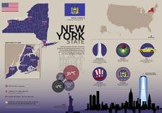 Viaje Infographic de Nueva York Fotografía de archivo