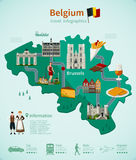 Viaje Infographics de Bélgica ilustración del vector