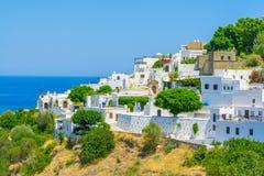 Viaje 2015, isla de Rhodos, Lindos de Grecia Fotografía de archivo