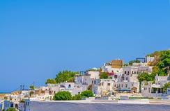 Viaje 2015, isla de Rhodos, Lindos de Grecia Foto de archivo