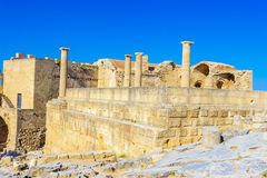 Viaje 2015, isla de Rhodos, Lindos de Grecia Imagen de archivo libre de regalías