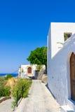 Viaje 2015, isla de Rhodos, Lindos de Grecia Imágenes de archivo libres de regalías