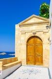 Viaje 2015, isla de Rhodos, Lindos de Grecia Fotos de archivo libres de regalías