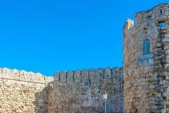 Viaje 2015, isla de Rhodos, parte antigua de Grecia de la ciudad de Rodas Imagen de archivo libre de regalías