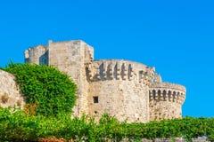 Viaje 2015, isla de Rhodos, parte antigua de Grecia de la ciudad de Rodas Imágenes de archivo libres de regalías