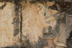 Viaje a la cueva maya de la pirámide del arte de México donde los sacrificios fueron realizados foto de archivo