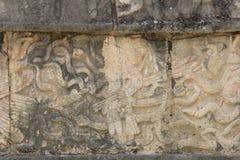 Viaje a la cueva maya de la pirámide del arte de México donde los sacrificios fueron realizados fotos de archivo libres de regalías