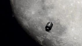 Viaje a la luna stock de ilustración