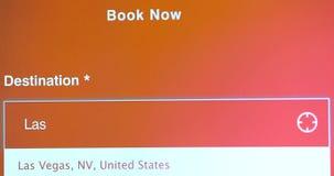 Viaje a Las Vegas Nevada los E.E.U.U. metrajes