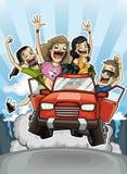 Viaje loco libre illustration