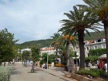 Viaje a Montenegro en el mar adriático foto de archivo