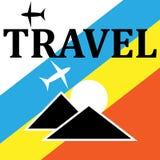Viaje - muestra y símbolos para el concepto que viaja foto de archivo libre de regalías