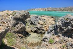 Viaje, naturaleza, Grecia, Creta, Elafonisi, Fotos de archivo libres de regalías