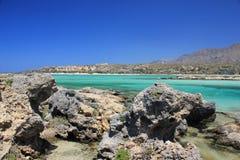 Viaje, naturaleza, Grecia, Creta, Elafonisi, Imágenes de archivo libres de regalías