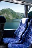 Viaje noruego del omnibus del fiordo Fotografía de archivo libre de regalías