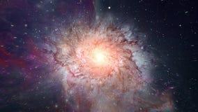 Viaje para espaciar la nebulosa stock de ilustración