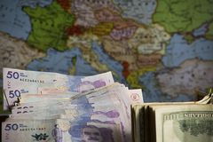Viaje para Europa foto de archivo