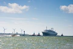 Viaje pasado de SS Rotterdam Imagen de archivo libre de regalías