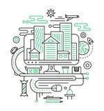 Viaje, planeamiento del viaje - alinee la composición del diseño ilustración del vector