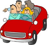 Viaje por carretera stock de ilustración