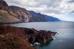 Viaje por carretera de la costa en Tenerife Imágenes de archivo libres de regalías