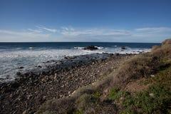 Viaje por carretera de la playa y de la costa en Tenerife Fotos de archivo libres de regalías