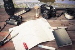 Viaje por carretera de las hojas de operación (planning) imagen de archivo libre de regalías