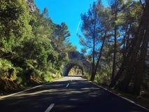 Viaje por carretera de Majorca, isla de Majorca, opinión del majorca, España, Europa Fotografía de archivo