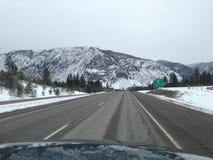 Viaje por carretera de Montana fotografía de archivo libre de regalías