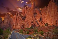Viaje por carretera escénico de Utah fotografía de archivo