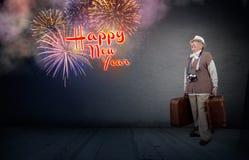 Viaje por el Año Nuevo Imagen de archivo libre de regalías