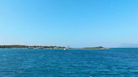 Viaje por mar en Turquía almacen de video