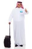 Viaje árabe del hombre de negocios Imagen de archivo libre de regalías