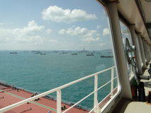 Viaje submarino en el estrecho de Malaca fotografía de archivo