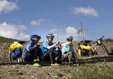 Viaje a Tíbet en bici Foto de archivo libre de regalías