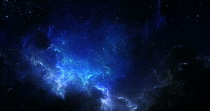 Viaje a través de una galaxia en el universo