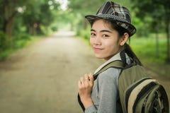 Viaje, viajero, mochila Imagen de archivo