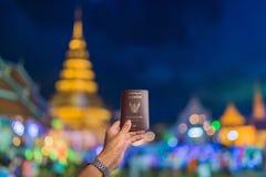 Viaje Wat Phra That Hariphunchai, Lamphun Tailandia del pasaporte imagen de archivo libre de regalías
