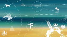 Viaje y turismo stock de ilustración