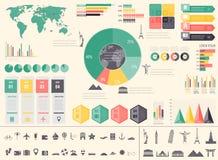 Viaje y turismo Infographic fijó con las cartas y otros elementos Vector ilustración del vector