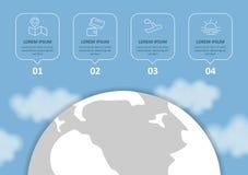 Viaje y turismo Infographic fij? con las cartas y otros elementos Ilustraci?n del vector libre illustration